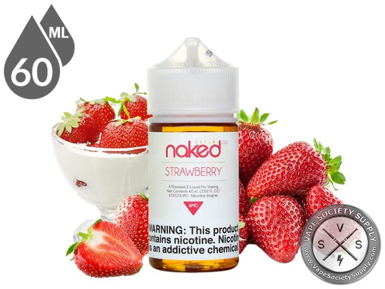 Naked 100 Cream 60ml Strawberry E Liquids