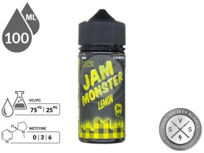 Lemon by Jam Monster Eliquid 100ml